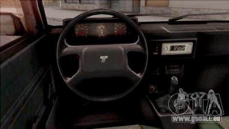 Tofas Sahin v2 pour GTA San Andreas vue intérieure