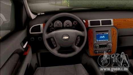 Chevrolet Tahoe LTZ 2008 IVF für GTA San Andreas Innenansicht
