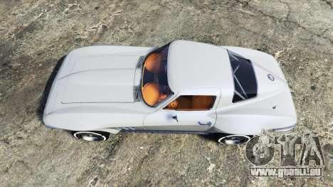 GTA 5 Chevrolet Corvette Sting Ray (C2) [replace] vue arrière
