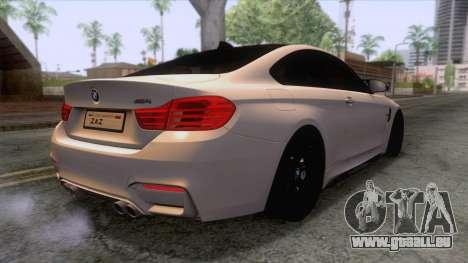BMW M4 GTS High Quality pour GTA San Andreas vue de droite