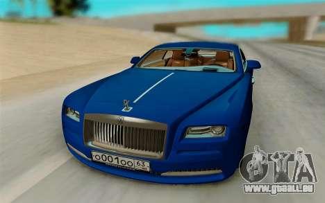 Rolls Royce Wraith für GTA San Andreas rechten Ansicht