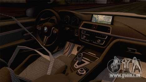 BMW M4 GTS High Quality pour GTA San Andreas vue intérieure