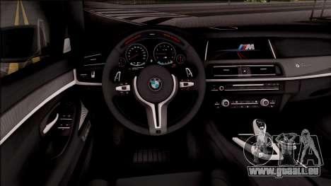 BMW M5 F10 M Performance pour GTA San Andreas vue intérieure