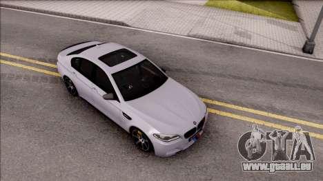BMW M5 F10 M Performance pour GTA San Andreas vue de droite