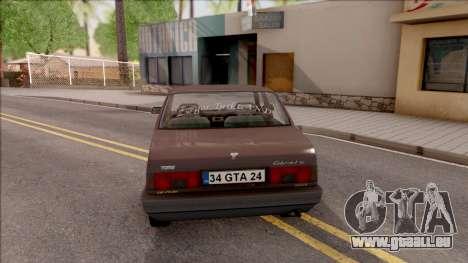 Tofas Sahin v2 pour GTA San Andreas sur la vue arrière gauche