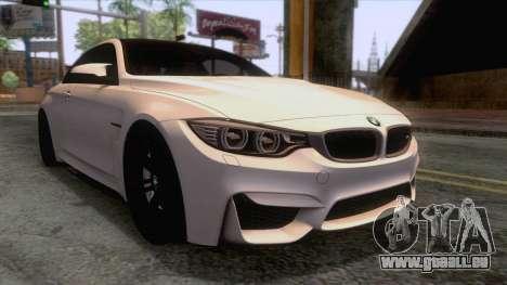 BMW M4 GTS High Quality pour GTA San Andreas sur la vue arrière gauche