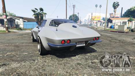 GTA 5 Chevrolet Corvette Sting Ray (C2) [replace] arrière vue latérale gauche