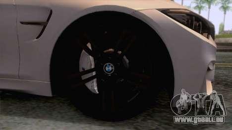 BMW M4 GTS High Quality pour GTA San Andreas vue arrière