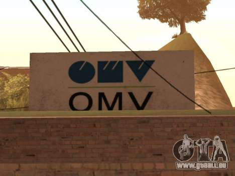 OMV Gas Station In Dillimore für GTA San Andreas her Screenshot