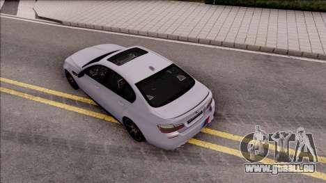 BMW M5 F10 M Performance pour GTA San Andreas vue arrière