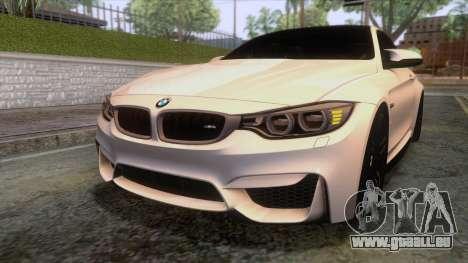 BMW M4 GTS High Quality pour GTA San Andreas vue de dessus