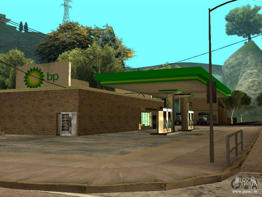 bp gas station pour gta san andreas. Black Bedroom Furniture Sets. Home Design Ideas