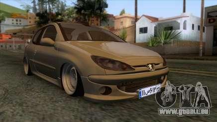 Peugeot 206 Full Sport Edit für GTA San Andreas