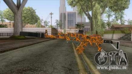 CoD: Black Ops II - AK-47 Lava Skin v2 für GTA San Andreas