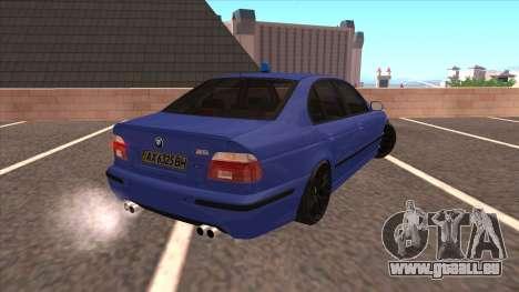 BMW E39 M5 pour GTA San Andreas laissé vue