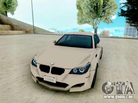 BMW M5 E60 Lumma Edition pour GTA San Andreas vue arrière
