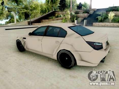 BMW M5 E60 Lumma Edition pour GTA San Andreas sur la vue arrière gauche