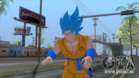 Goku SSJ2 Blue Skin pour GTA San Andreas