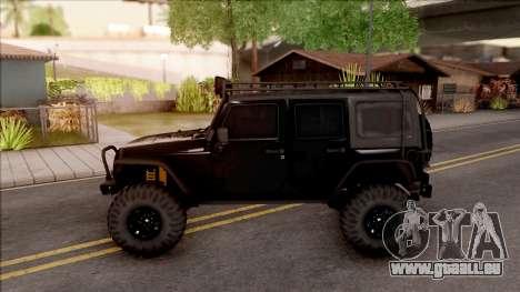 Jeep Wrangler Rubicon Off-Road pour GTA San Andreas laissé vue