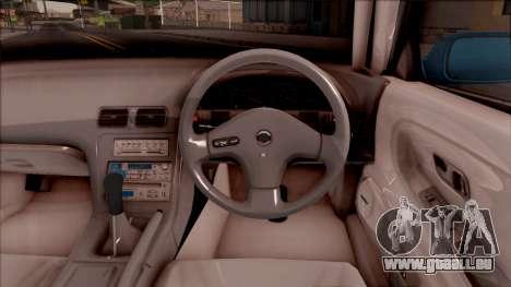 Nissan 180SX Rocket Bunny pour GTA San Andreas vue intérieure