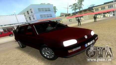 Volkswagen Golf Mk3 Variant für GTA Vice City
