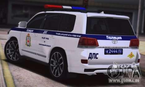 Toyota Land Cruiser 200-DPS région de Nijni Novg pour GTA San Andreas