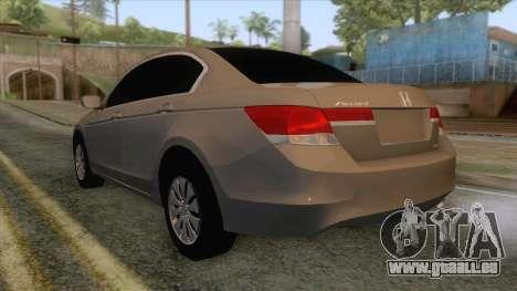 Honda Accord 2012 pour GTA San Andreas