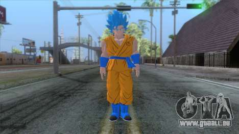 Goku SSJ2 Blue Skin pour GTA San Andreas deuxième écran
