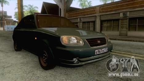 Hyundai Accent Stock für GTA San Andreas