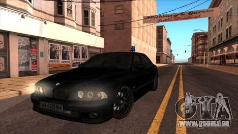 BMW E39 M5 pour GTA San Andreas sur la vue arrière gauche