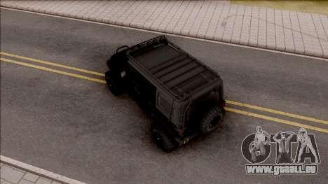 Jeep Wrangler Rubicon Off-Road pour GTA San Andreas vue arrière