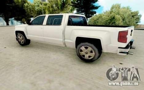 Chevrolet SIlverado 2017 Undercover Police pour GTA San Andreas sur la vue arrière gauche