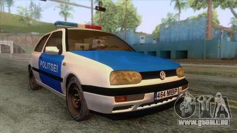 Volkswagen Golf Mk3 Estonian Police für GTA San Andreas