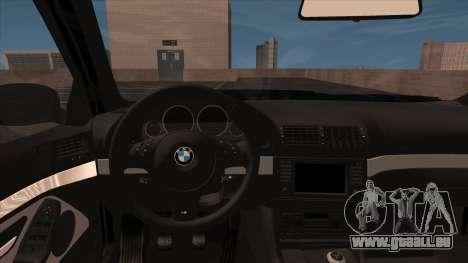 BMW E39 M5 pour GTA San Andreas vue arrière