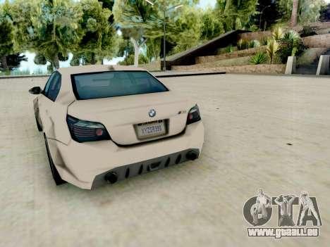 BMW M5 E60 Lumma Edition pour GTA San Andreas vue de droite
