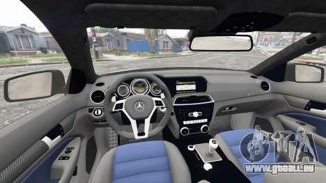 GTA 5 Mercedes-Benz C63 AMG (C204) 2012 v1.1 [replace] hinten rechts