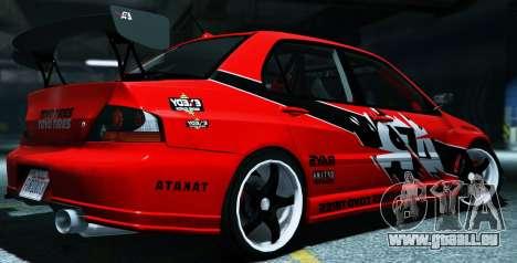 GTA 5 2006 Mitsubishi Lancer Evolution IX 2.0 linke Seitenansicht