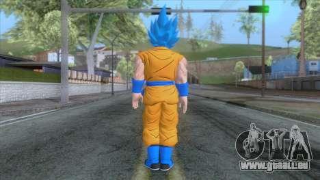 Goku SSJ2 Blue Skin pour GTA San Andreas troisième écran