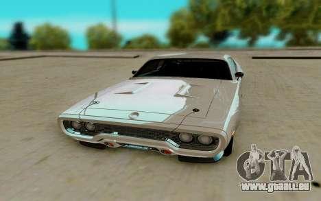 Plymouth GTX pour GTA San Andreas vue arrière