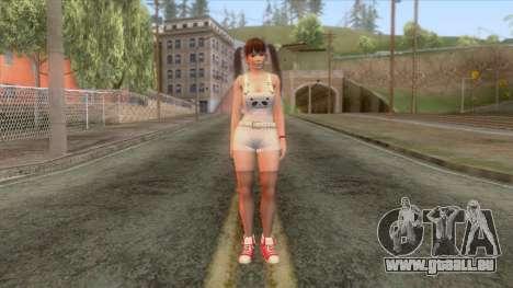 Dead Or Alive 5 Lei Fang pour GTA San Andreas deuxième écran