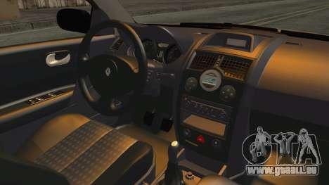 Renault Megane II Sedan pour GTA San Andreas vue intérieure