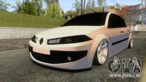 Renault Megane II Sedan pour GTA San Andreas sur la vue arrière gauche