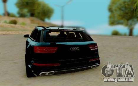 Audi QS7 ABT für GTA San Andreas zurück linke Ansicht