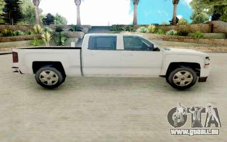 Chevrolet SIlverado 2017 Undercover Police pour GTA San Andreas laissé vue