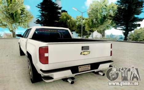Chevrolet SIlverado 2017 Undercover Police pour GTA San Andreas vue de droite