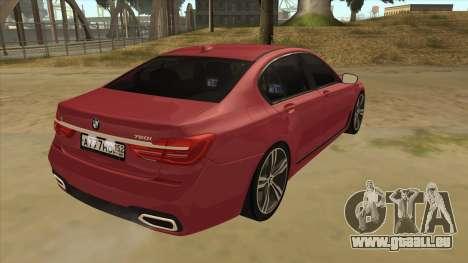 BMW 7-Series M Sport pour GTA San Andreas