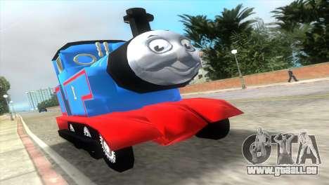 Thomas The Train pour GTA Vice City sur la vue arrière gauche