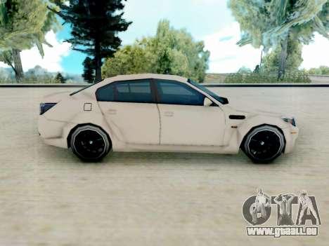 BMW M5 E60 Lumma Edition pour GTA San Andreas laissé vue