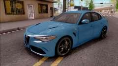 Alfa Romeo Giulia Quadrifoglio 2017 pour GTA San Andreas