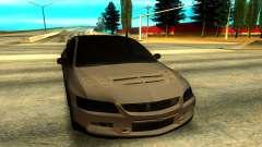 Mitsubishi Lancer Evolution 8 en argent pour GTA San Andreas